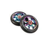 Колесо для самоката PHOENIX<br>F7 Alloy Core Wheel 110mm Twin Pack - Neo Chrome/Black - 2 шт.