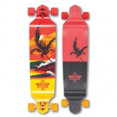 Лонгборд DUSTERS<br>S6 Thirds Drop-Down Longboard Red/Yellow 41,25 in 9,75