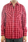 Рубашка INDEPENDENT<br>Control Button Up red/navy/white