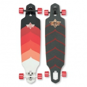 Лонгборд DUSTERS<br>S6 Wake Drop-Through Longboard Kryptonic Red 38 in 9,375
