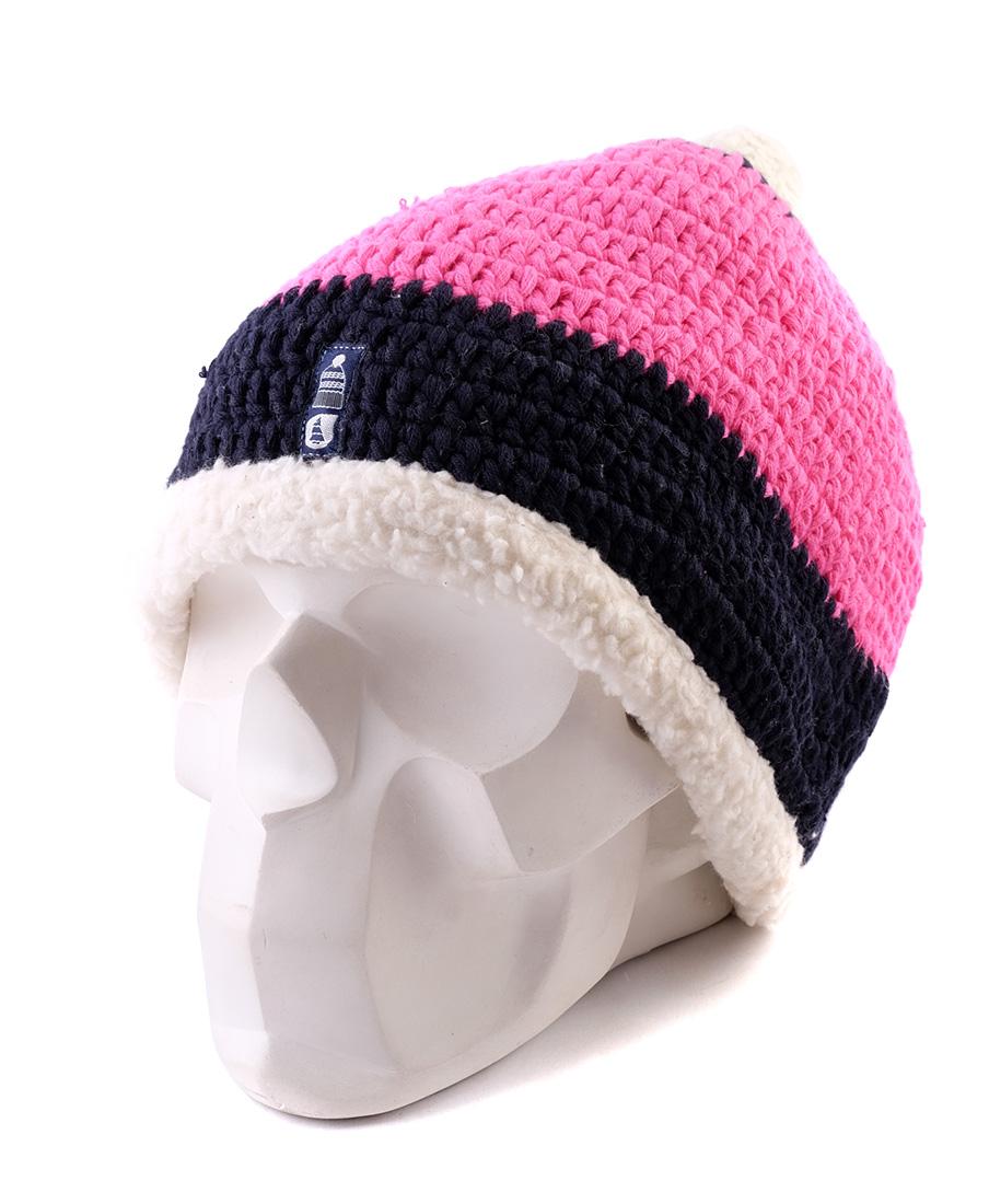 Одежда. Шапка с помпоном PICTURE ORGANIC Snowoo Plush Pink. Шапки